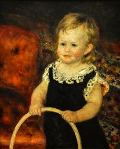 Pierre Auguste Renoir - Child with Hoop, 1875 at Baltimore Museum of Art Baltimore MD   Flickr - Photo Sharing!