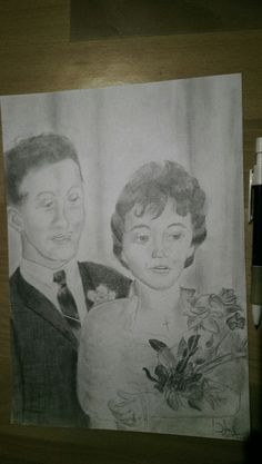 Married couple drawing