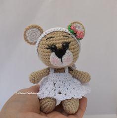 Amigurumi teddy bear crochet doll stuffed bear by KanoonAobaoon