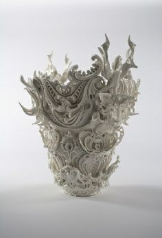 """Ceramic artist Katsuyo Aoki combines the vulgar and the divine in her undulating and intricate ceramic sculptures. Her ultimate goal is """"to create an atmosphere"""" that reflects the feelings of the modern age."""