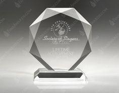 Crystal Beveled Diamond Award
