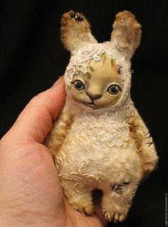 Купить Крошки в ладошку - комбинированный, белый, фиолетовый, лиловый, заяц, заяц игрушка, плюшевая игрушка