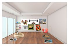 """""""Part 3. Dog room"""" by mrs-irwin-grier on Polyvore featuring interior, interiors, interior design, home, home decor, interior decorating, Victoria's Secret, Disney, CB2 and CO"""