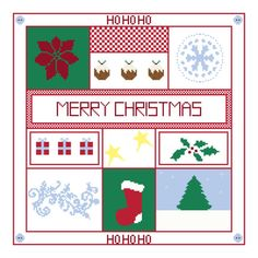 Cross stitch pattern Merry Christmas sampler £6.00 by CraftwithCartwright