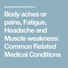 WebMD Symptom Checker helps you find the most common medical conditions indicated by the symptoms Dizziness, Early morning waking, Headache and Nausea or vomiting and including Middle ear infection, Labyrinthitis and Generalized anxiety disorder. Middle Ear, Generalized Anxiety Disorder, Muscle Weakness, Medical Conditions, Early Morning, Disorders, Need To Know, Conditioner