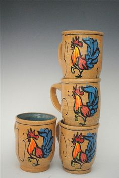 Mug Infamous Key West Rooster New Brown Clay with by HonestWorks, $35.00