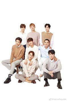 your source for official, high-resolution photos of sm entertainment's boy group, exo! Chanyeol, Kyungsoo, Kai, Chen, Exo Nature Republic, Exo Group Photo, Exo Album, Exo Lockscreen, Exo Korean