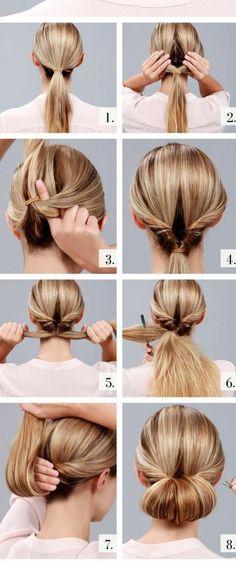 Aujourd'hui nous sommes inspirés par les chignons et coiffures faciles. Toutes dames qui ont l'estime de soi savent que les cheveux beaux sont un must-have!