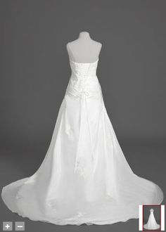 Here is what the back of the dress looks like