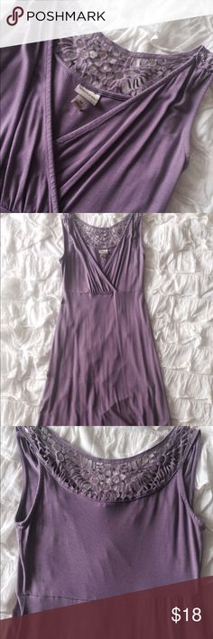 Purple Cutout Collar Dress Look at pictures for wear. Please feel free to send me an offer. Happy shopping Merona Dresses