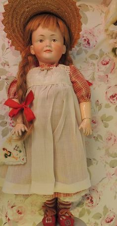 18 IN Kley & Hahn #520 Character Doll Antique German Bisque Doll