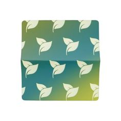 Aroma Therapy Leaves with Green and Blue Gradient Checkbook Cover - cyo diy customize unique design gift idea perfect