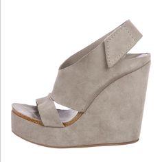 779b2722ca Pedro Garcia Shoes | Pedro Garcia Grey Wedge. | Color: Gray | Size: