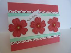 Stampin Up Flower Shop by rainyboxcrafts - Cards and Paper Crafts at Splitcoaststampers