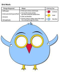 How to make Bird Mask   Printable Kids Crafts
