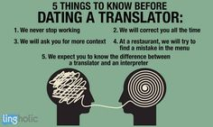 5 things to know before dating a Translator… Source: lingholic – Translation Ideas Funny Translations, Marie Von Ebner Eschenbach, Free Translation, Machine Translation, Sarcastic Humor, Things To Know, 5 Things, Embedded Image Permalink, Funny Quotes