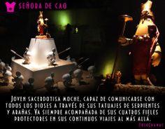 SEÑORA DE CAO inspirado en la JOVEN MADRE DE PIEL TATUADA GOBERNANTE DE LA CULTURA MOCHICA