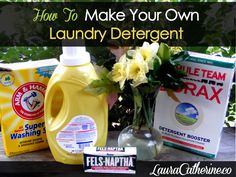 How to Make Your Own Laundry Detergent - DIY and video with step by step instructions!