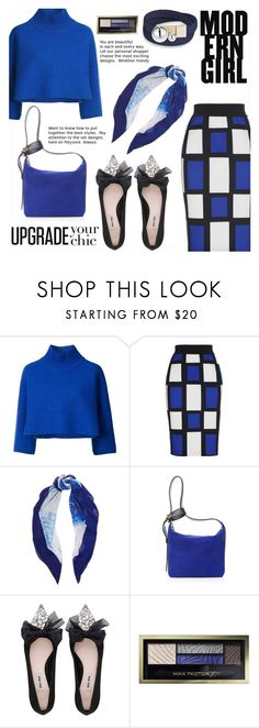 """Best look"" by gabrilungu ❤ liked on Polyvore featuring Vika Gazinskaya, Halston Heritage, Lanvin, Miu Miu and Max Factor"