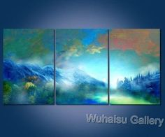 Art Style Distinctive Modern Handcraft Oil Painting on Canvas 3pc No Frame A8 | eBay