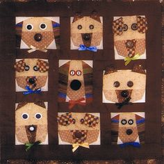 Dog Faces at ABC Patterns