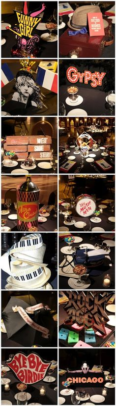Broadway themed birthday! Love it! | @Sarah Warner for our next Birthday Vacay!!!!! ♥