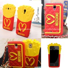 3D Moschino French Fries Silicone Back Cover Case bag for Samsung galaxy note 3