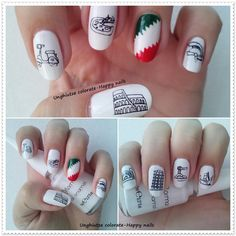 Unghiutze colorate-Happy nails: Alphabet nail art challenge - Letter I