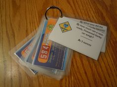 Pinewood Derby Trivia Cards--pretty good idea
