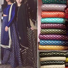 indian wedding wear brocade bollywood lehenga blouse dupatta dress set size L XL Lehenga Designs, Kurta Designs, Blouse Designs, Indian Designer Outfits, Indian Outfits, Designer Dresses, Pakistani Designer Clothes, Indian Gowns Dresses, Brocade Dresses