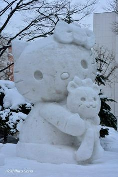 Snow Hello Kitty o(^_^)o and like OMG! get some yourself some pawtastic adorable cat apparel!