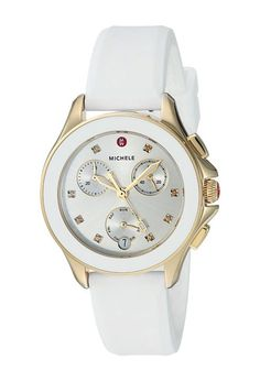 Michele 34.5mm, Cape Chrono Gold/White (Gold/White) Watches - Michele, 34.5mm, Cape Chrono Gold/White, MWW27C000012, Jewelry Watches General, Watches, Watches, Jewelry, Gift, - Fashion Ideas To Inspire