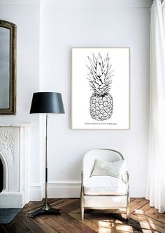 Pineapple  The Fruits Of Our Labour  Typography  by lettersonlove, £10.00 @carolucyb