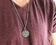 "Men's Necklace - Blackend Silver Plated Tree Of Life Pendant - Mens Jewelry - Mens Cool Jewelry - Gift For Him  Looking for a gift for your man? You've found the perfect item for this!   The simple and beautiful necklace features blackend silver plated chain with tree of life pendant.  Available in two lengths: 19.6"" (50 cm ), 25"" (65cm).  Item will arrive in a pretty gift box as shown in last image, ready to give, with my brand logo.  $35"