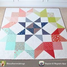 Moda Love Quilt in Vintage Picnic fabric                              …