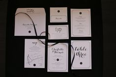 Black and White Wedding Stationery, Old Hollywood Glamour | Little Paper Store | www.littlepaperstore.com
