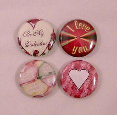Magnet set  Valentine heart collection set of 4  by PurpleHug, $5.00 #jebnr #RT