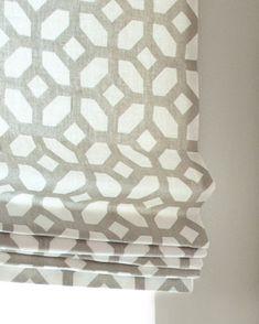Custom Flat Roman Shade Window Treatment in Grey by DrawnCompany, $99.00
