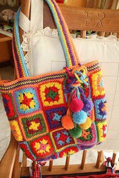 34 Ideas for crochet granny square bag handbags colour – Crochet Bag İdeas. Bag Crochet, Crochet Handbags, Crochet Purses, Crochet Granny, Crochet Motif, Granny Square Bag, Granny Squares, New Handbags, Handbags Online