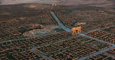 This city ruins is one of the best surviving examples of the grid plan used by the ancient Roman city planners.