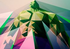 Geometric Illustrations of Pop Culture Characters
