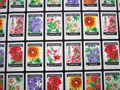 Gardening seed packet fabric