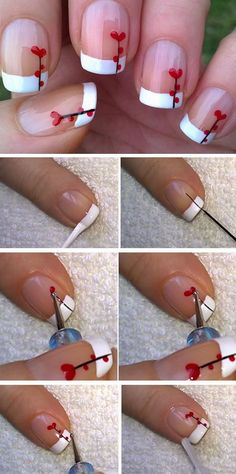 heart flower 15 easy valentines day nail designs for short nails diy wedding Nails Wedding Nails Heart Valentines Day Cute Easy Nail Designs, Valentine's Day Nail Designs, Short Nail Designs, Nails Design, Nail Art Flower Designs, Nail Designs With Hearts, Nail Designs For Spring, Nail Design For Short Nails, Nails Short