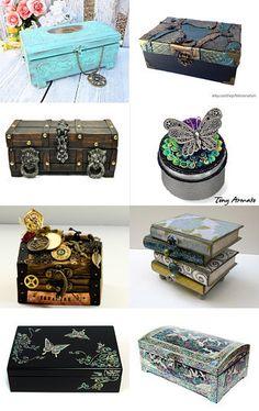 Treasury of treasure boxes by Réka Kálóczy on Etsy--Pinned with TreasuryPin.com
