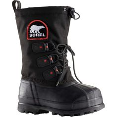 Sorel - Glacier XT Boot - Women's - Black/Red Quartz