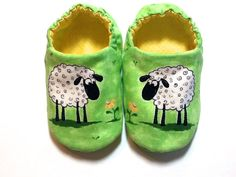 Sheep Baby Girl Shoes Baby Booties Baby Gift by ShoesbySusie, $22.00