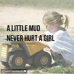 This totally reminds me of my sister!  Tonka Trucks were her favorite toys! #mud  #trucks  #playtime  #iamcoachkelly