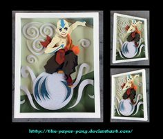 Avatar: The Last Airbender Aang Shadowbox by The-Paper-Pony.deviantart.com on @DeviantArt