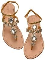 Products I Want To Remember / Flat Sandals with Jewels: Flat Gold Sandals  Silver Flat Sandals | Silver Rhinestone Flat Sandals ||