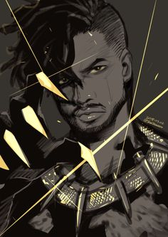 Killmonger by @shatoooooo on Twitter